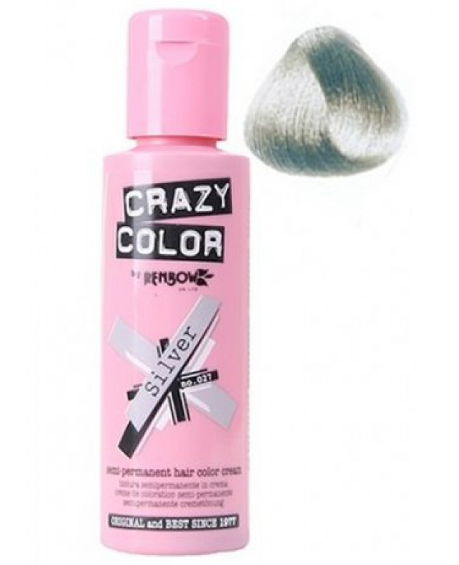 Crazy Color 100ml Ασημί