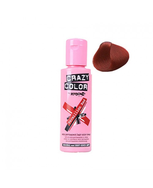Crazy Color 100ml Vermillion Red