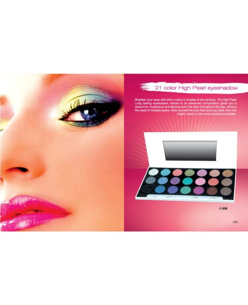 21 COLOR HIGH PEARL EYESHADOW PALLET REF.808