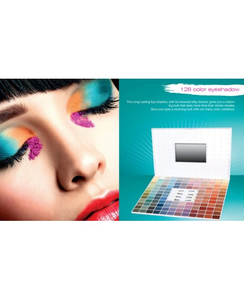 128 COLOR SATIN EYESHADOW PALLET REF.811