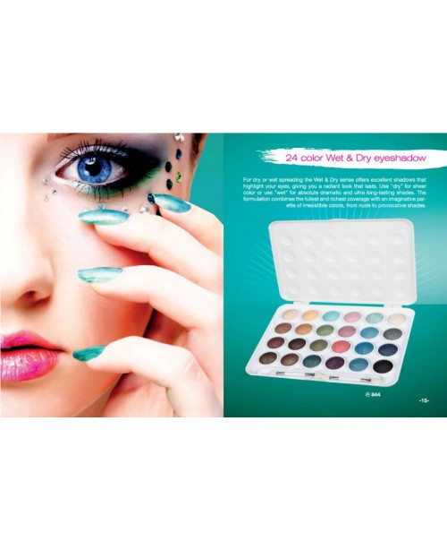 24 COLOR WET & DRY EYESHADOW PALLET REF.844