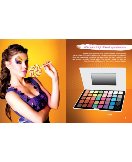 40 COLOR HIGH-PEARL EYESHADOW PALLET REF.888