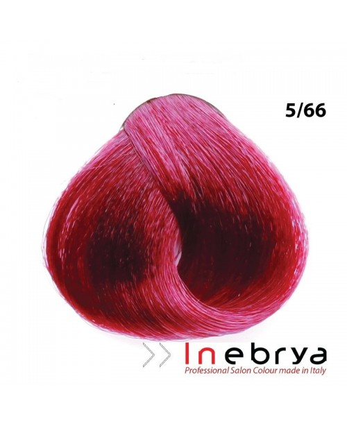 Inebrya Italy Professional Hair Coloring 100ml 5.66 Light Chestnut Intense Red