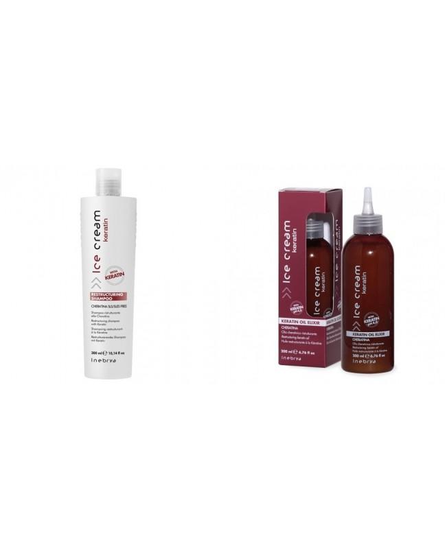Inebrya Italy Restructuring shampoo with Keratin 300ml