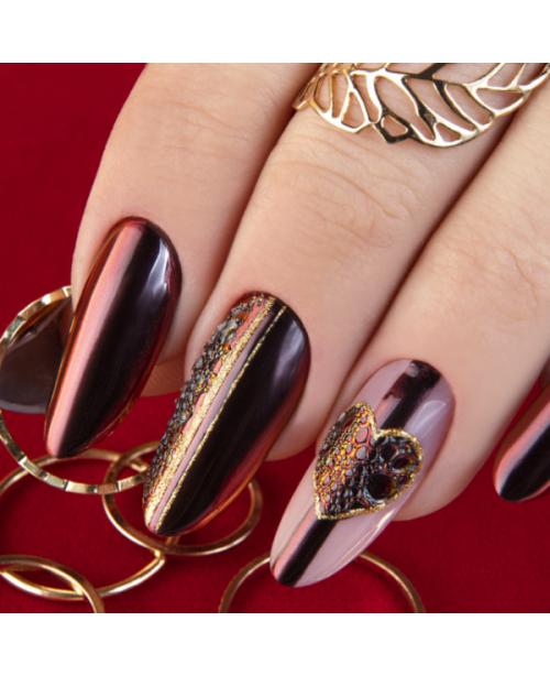 NC Nails Crystal Mirror Black Red 0.5gr