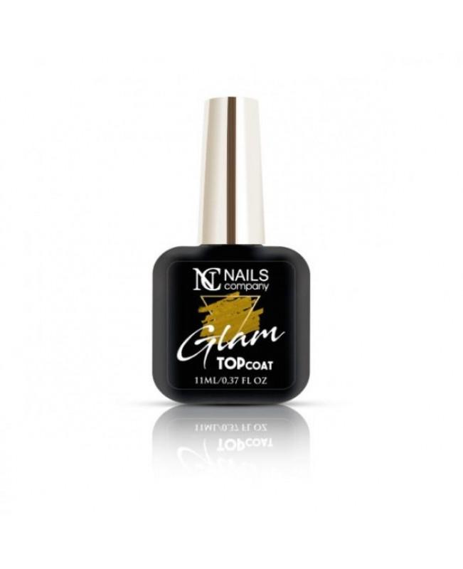 Nc Nails Glam Top Coat Gold 11ml