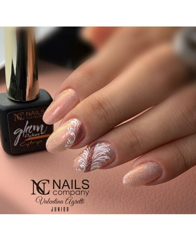 Nc Nails Ημιμόνιμα Χρώματα Glam Flakes Cytryn 6ml